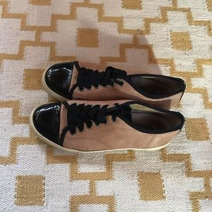 Lanvin Leather Low Top Sneakers